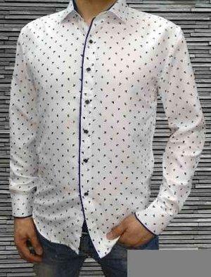 Мужская Рубашка с длинным рукавом. Материал Хлопок Про-ль Турция