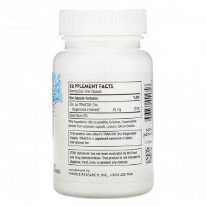 Thorne Research, Zinc Bisglycinate, 30 mg, 60 Capsules