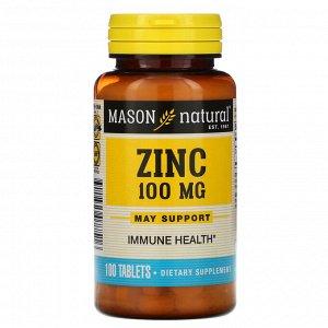 Mason Natural, Цинк, 100 мг, 100 таблеток