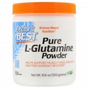Doctor&#x27 - s Best, Чистый L-глутамин в виде порошка, 300 г (10,6 унции)