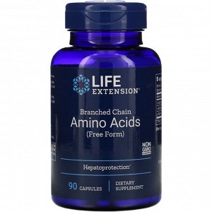 Life Extension, Branched Chain Amino Acids, 90 Capsules