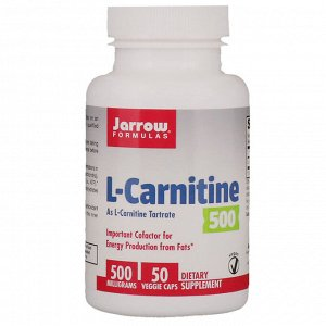 Jarrow Formulas, L-Carnitine 500, 500 mg, 50 Veggie Caps