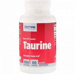 Jarrow Formulas, Taurine, 1000 мг, 100 капсул
