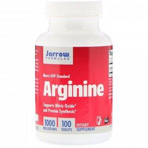 Jarrow Formulas, Аргинин, 1000 мг, 100 таблеток