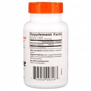 Doctor&#x27 - s Best, Best, L-тирозин, 500 мг, 120 растительных капсул