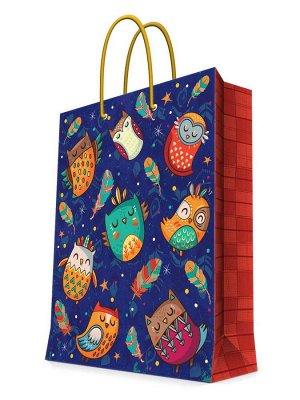 Бумажный пакет Милые совы