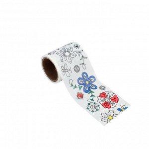 Декоративная самоклеющаяся лента из бумаги шириной 5 см