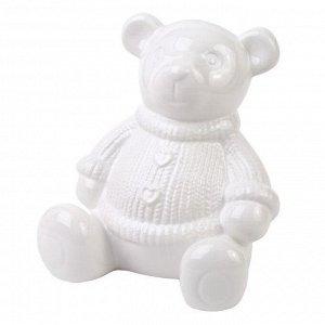 Декоративная копилка Медвежонок белый