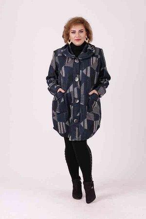 Женское Пальто ДРАП ВЯЗКА Осень - Весна ВЕЛИКАН 60-70 в размер