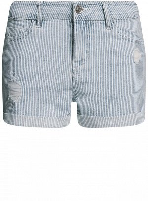 Шорты джинсовые с отворотами