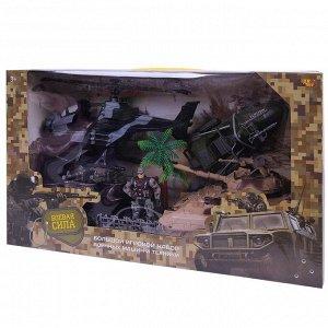 Игровой набор ABtoys Боевая сила. Военная техника с гидроциклом, вертолетом, фигуркой и аксессуарами, 7 предметов151