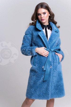 Пальто Кёрли синее