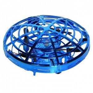 Квадрокоптер НЛО на сенсорном управлении (синий)1