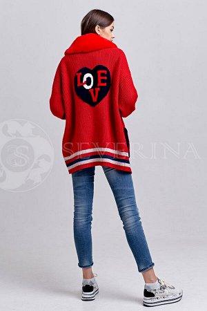 Кардиган LOVE Red 75