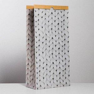 Пакет крафтовый «Теплые мгновения», 32 х 64 х 16 см