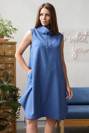 Платье 366 ночная синь