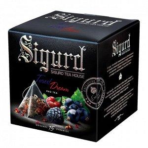 Чайный напиток SIGURD Лесная мечта Forest dream, 15 пирамидок в саше-конверте по 2 г