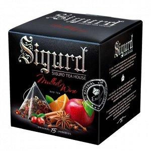 Чайный напиток SIGURD Глинтвейн Mulled Wine 15*2гр, 15 пирамидок в саше-конверте по 2 г