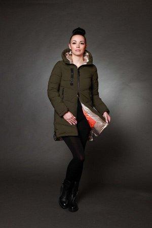 Куртка женская зимняя 1715 хаки
