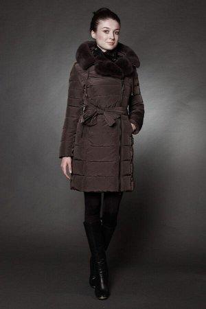 Женская куртка зимняя 1720 коричневато-серый