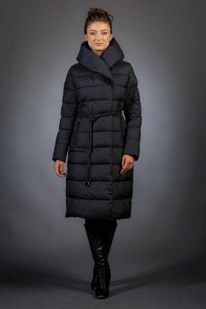 Женская куртка зимняя F9571 темно-синий