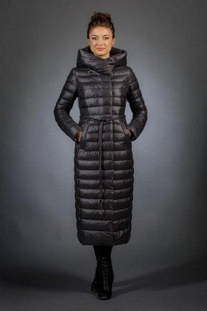 Женская куртка зимняя F9507 цвет графит