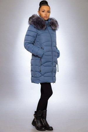 Женская куртка зимняя 1925 джинса искусственный мех