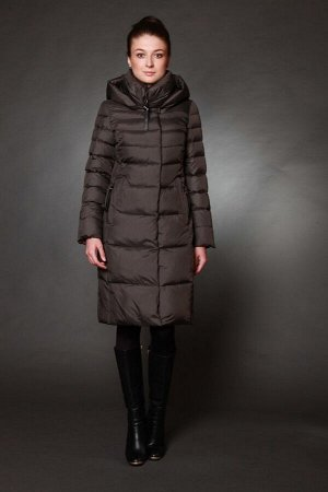 Куртка женская зимняя 17082 серо-коричневый