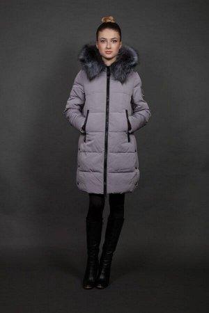 Куртка женская зимняя 511 стальной натуральный мех