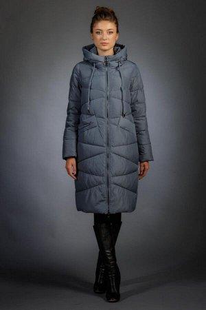 Женская куртка зимняя 18125 серо-голубой