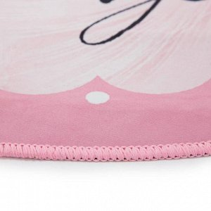 "Ковер Этель ""Фламинго"" d 120 см. 700г/м2г"