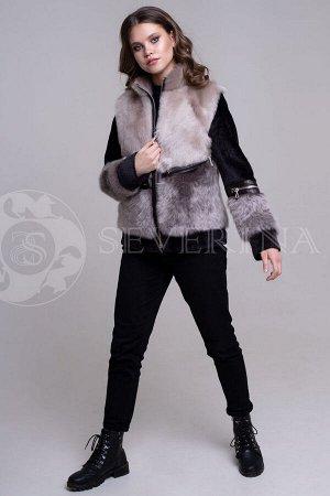 Дубленка Куртка из тосканской овчины На молнии Длина 60 см Турция