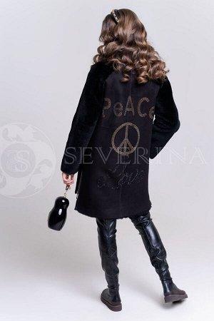 Шуба из овчины PEACE LOVE