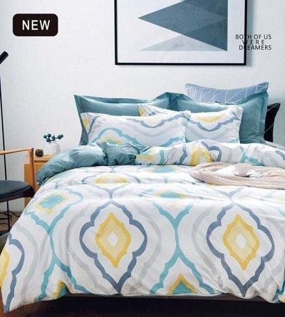 СВК текстиль для спальни. Бюджетно — КПБ Alanna Двухцветный — Постельное белье