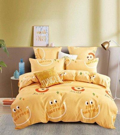 СВК текстиль для спальни. Бюджетно — КПБ ALANNA Двухцветный на резинке по кругу — Постельное белье
