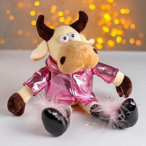 Мягкая игрушка «Коровка в розовой куртке»