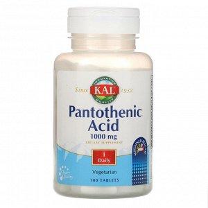 KAL, Пантотеновая кислота, 1000 мг, 100 таблеток