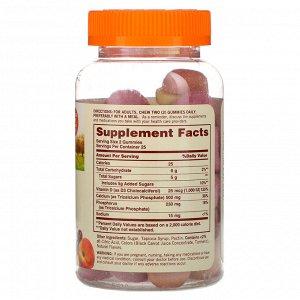 Sundown Naturals, Жевательные конфеты с кальцием, Плюс витамин D3, Персик, банан и вишня, 50 жевательных таблеток