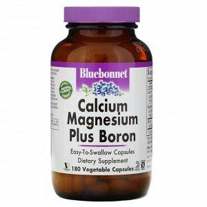 Bluebonnet Nutrition, Calcium Magnesium Plus Boron, 180 Vegetarian Capsules