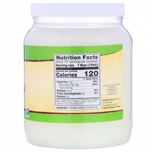 Now Foods, Real Food, органическое натуральное кокосовое масло, 1,6 л (54 жидких унции)