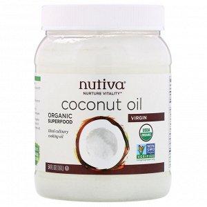 Nutiva, Кокосовое масло первого отжима, 1,6 л