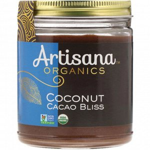 Artisana, Organics, сырое кокосовое какао-блаженство, ореховое масло, 227 г (8 унций)