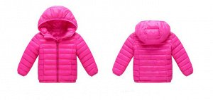Демисезонная детская куртка, цвет ярко-розовый