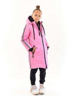 Пальто для девочки Спорт розовый (t до -25)