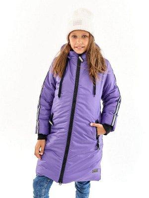 Пальто для девочки Спорт черничный (t до -25)
