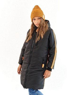 Пальто для девочки Спорт черный (t до -25)