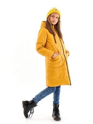 Пальто для девочки Классик горчичный (t до -25)
