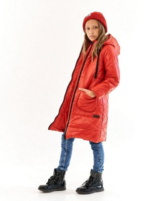 Пальто для девочки Классик красный