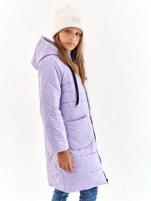 Пальто для девочки Классик сиреневый (t до -25)
