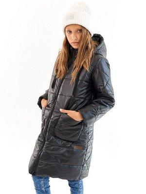 Пальто для девочки Классик черный (t до -25)
